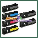 Xerox 106R01278-81 Compatible Toner Cartridges for Phaser 6130 series - 6 Piece Combo