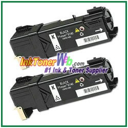 Xerox 106R01480 Compatible Black Toner Cartridge for Phaser 6140 series - 2 Piece