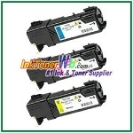 Xerox 106R01477-79 Compatible Toner Cartridges for Phaser 6140 series - 3 Piece Combo
