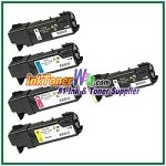 Xerox 106R01477-80 Compatible Toner Cartridges for Phaser 6140 series - 5 Piece Combo