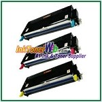 Xerox 113R00723-25 Compatible High Yield Toner Cartridges for Phaser 6180 series - 3 Piece Combo