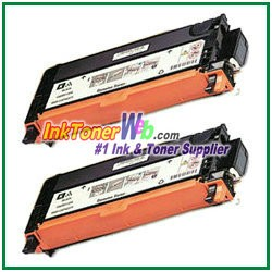 Xerox 106R01395 Compatible High Yield Black Toner Cartridge for Phaser 6280 series -  2 Piece