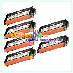 Xerox 106R01392-95 Compatible High Yield Toner Cartridges for Phaser 6280 series - 6 Piece Combo