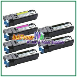 Xerox 106R01594-97 Compatible High Yield Toner Cartridges for Phaser 6500 series - 6 Piece Combo