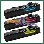 Xerox 106R02225-27 Compatible High Yield Color Toner Cartridges for Phaser 6600 6605 series - 3 Piece Combo