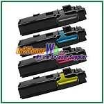 Xerox 106R02225-28 Compatible High Yield Toner Cartridges for Phaser 6600 6605 series - 4 Piece Combo